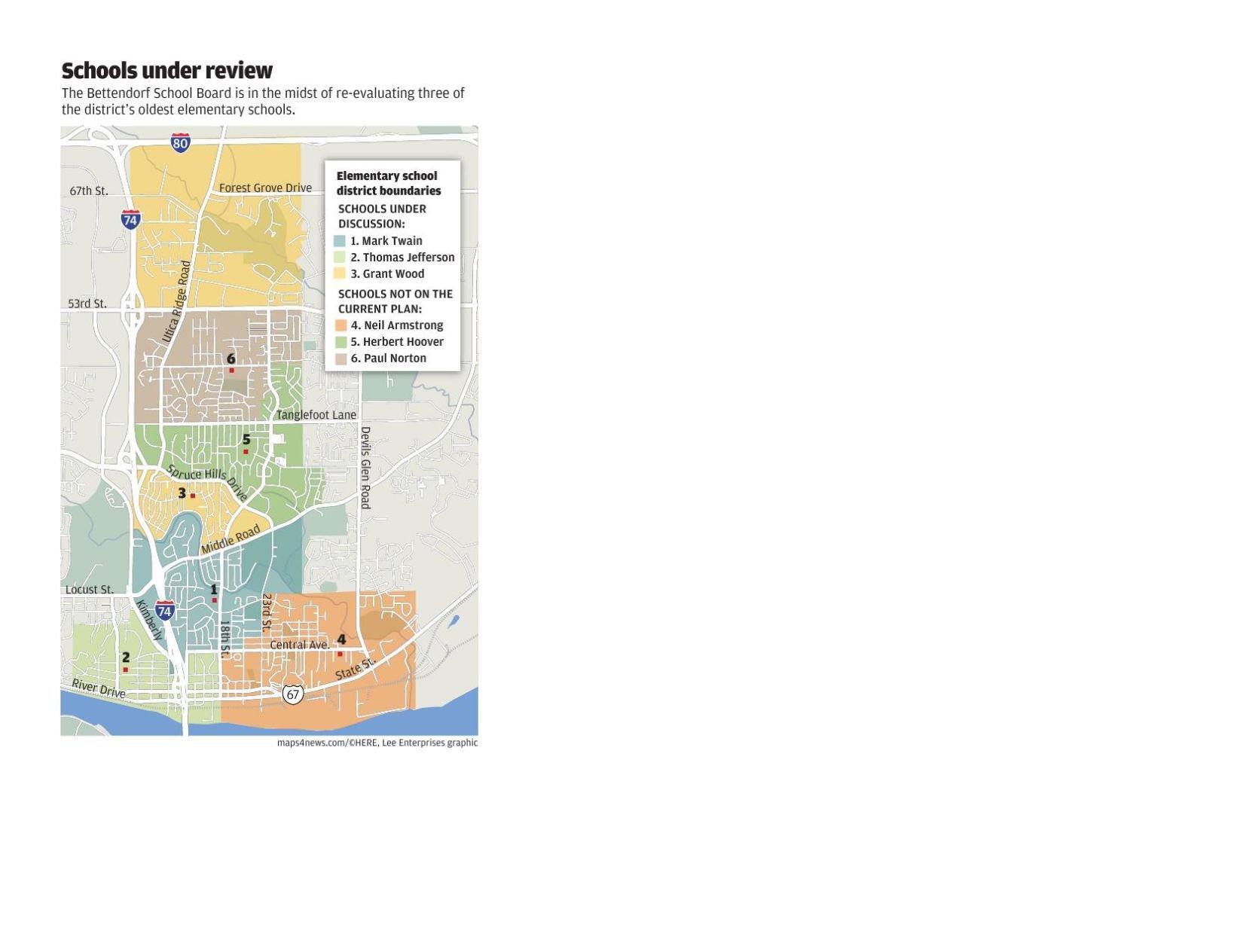 Map of Bettendorf School District qctimescom