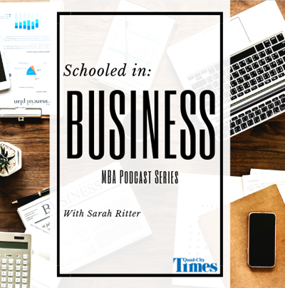 NEW Schooled in Business logo