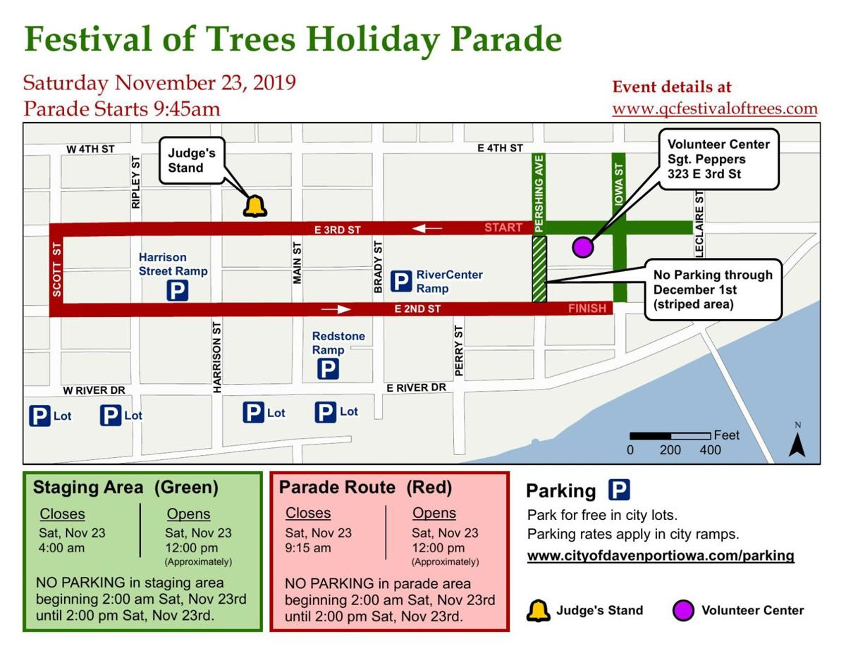 Festival of Trees map