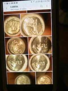Stolen coins