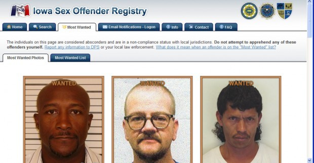 Local list of sex offenders