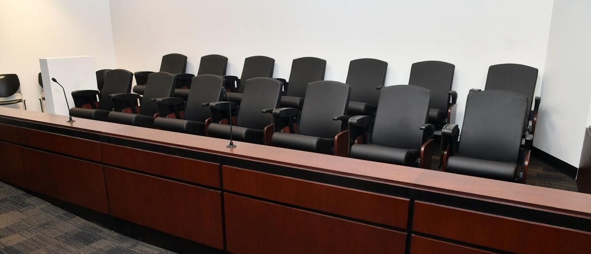 Courtroom at the Rock Island County Justice Center