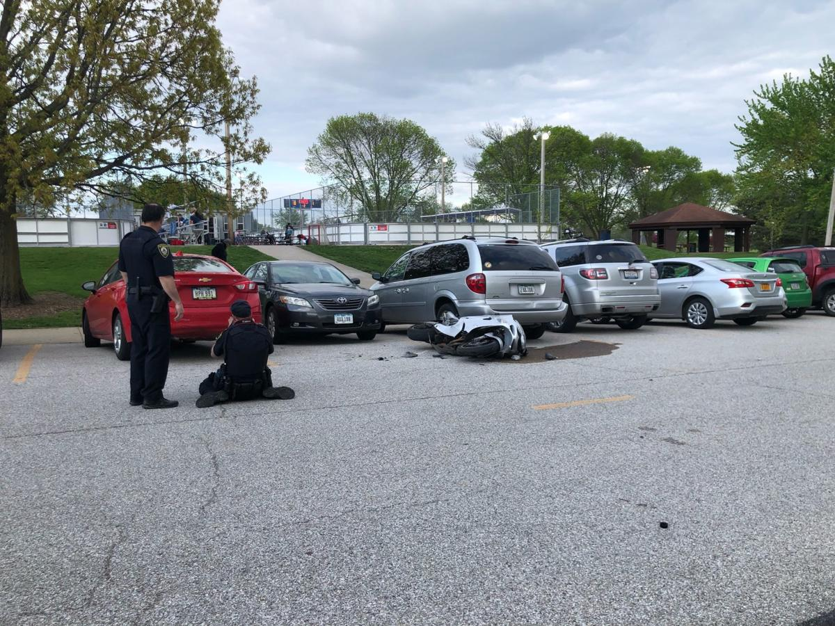 Motorcycle crash in Bettendorf
