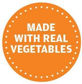Made with real vegetables