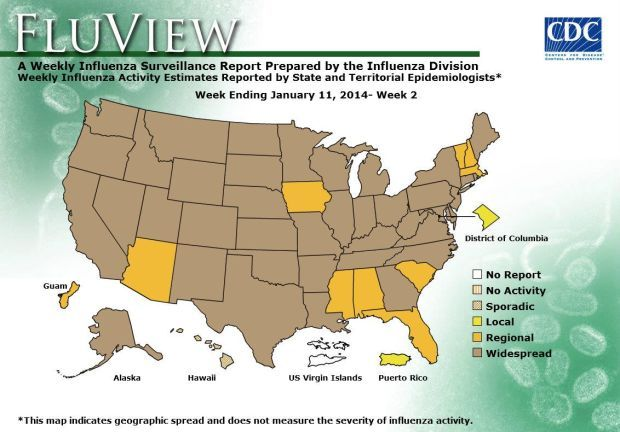 Illness incidence rates in the U.S.