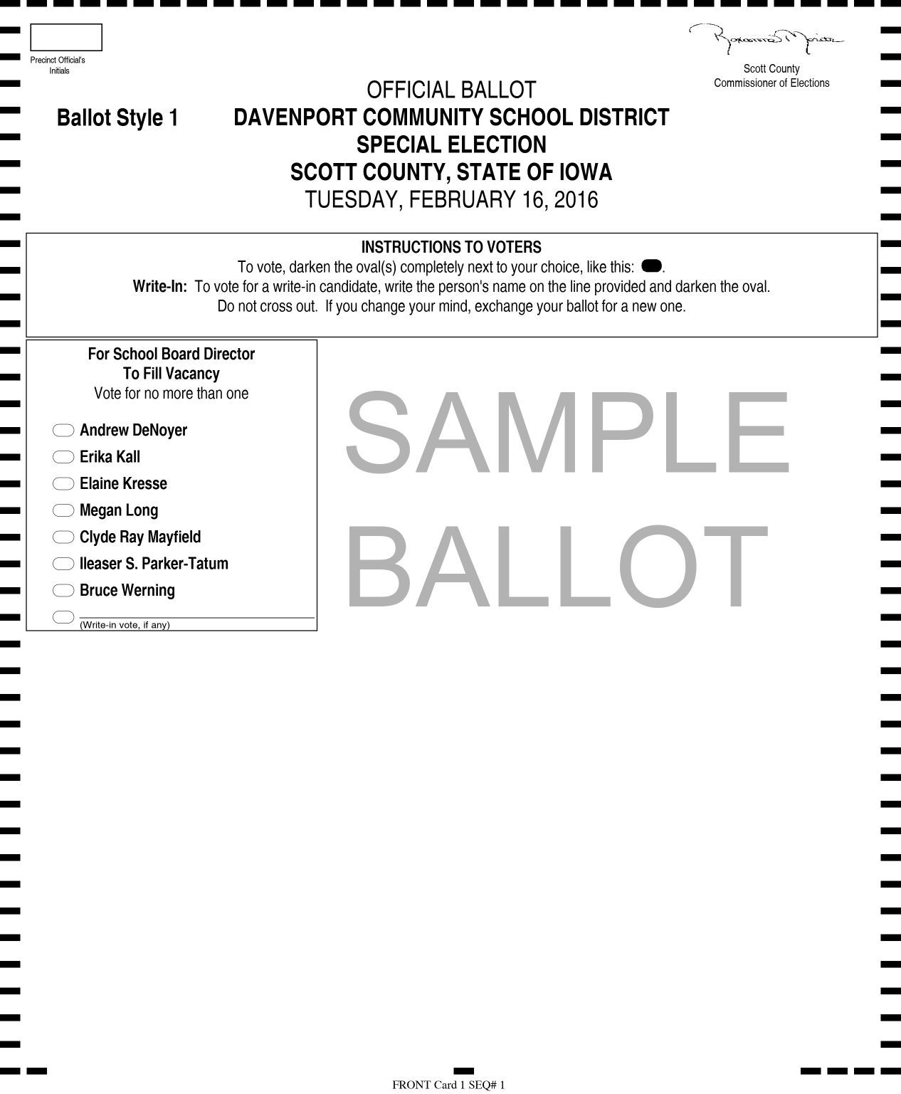 Scott County to provide interactive sample ballots | Government ...