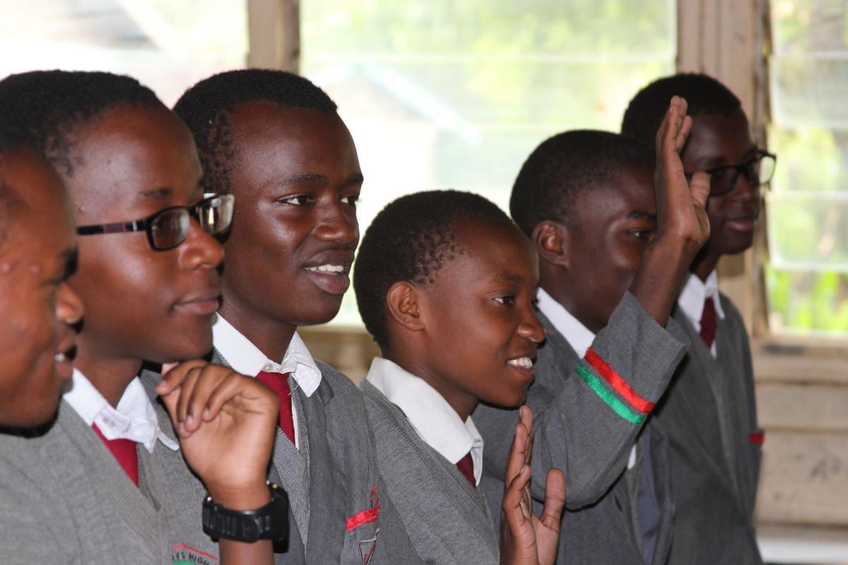 Kenyan schoolchildren