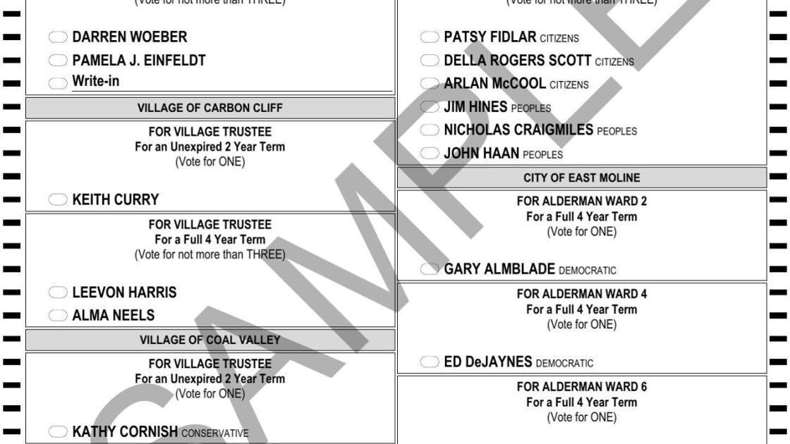 Illinois Polls Rock Island County