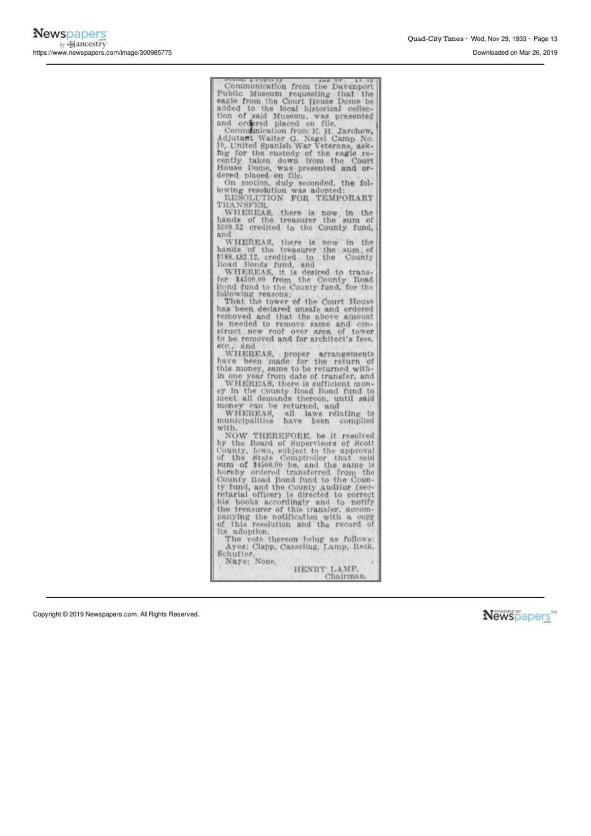 The Davenport Democrat and Leader -- Nov. 29, 1933 page 13