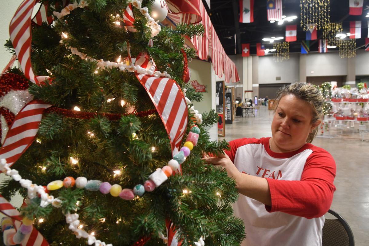 Festival of Trees setting up at the RiverCenter