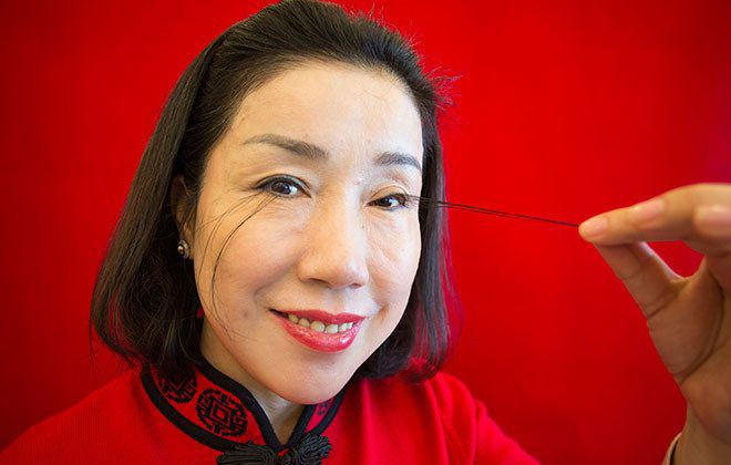 This woman has the longest eyelashes in the world—and she claims they are natural