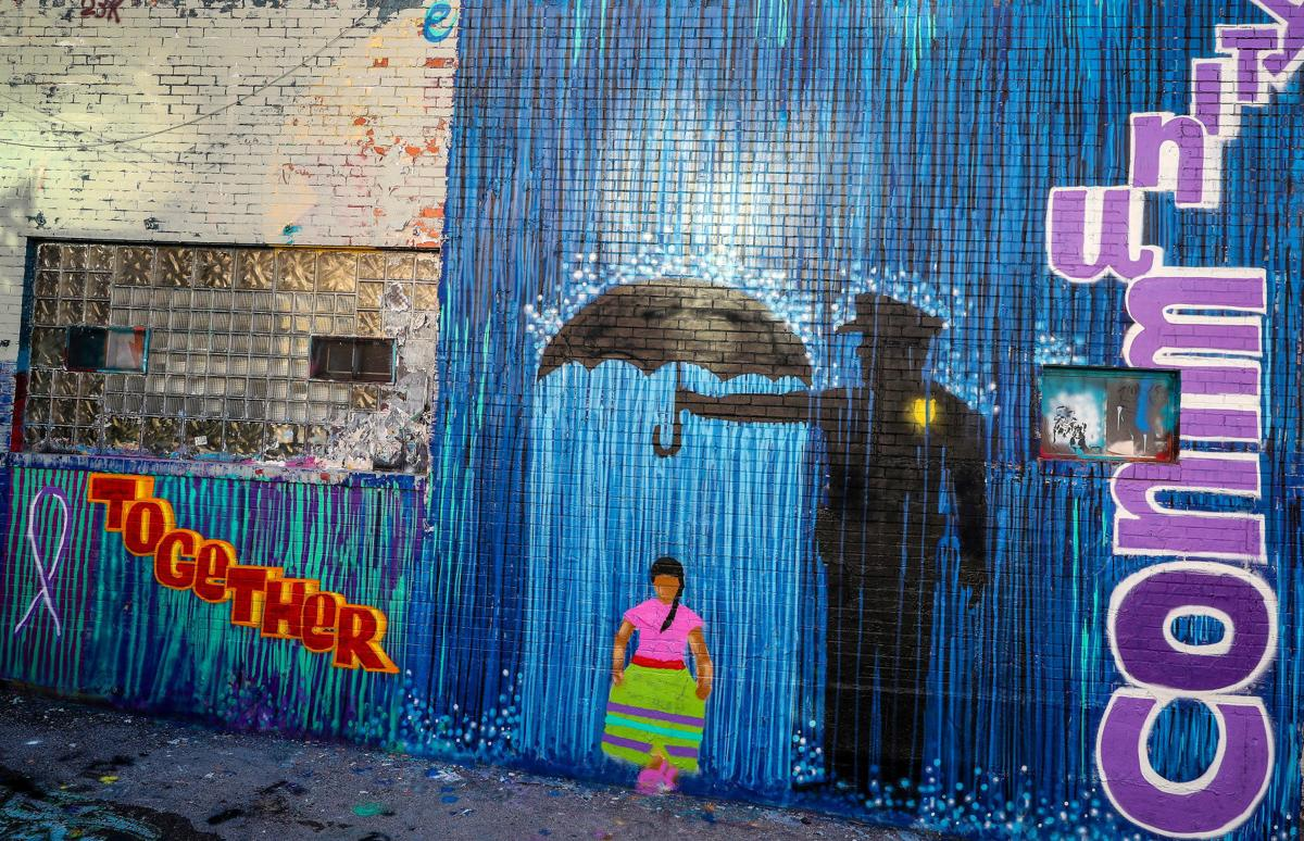 Domestic Violence Mural in Art Alley