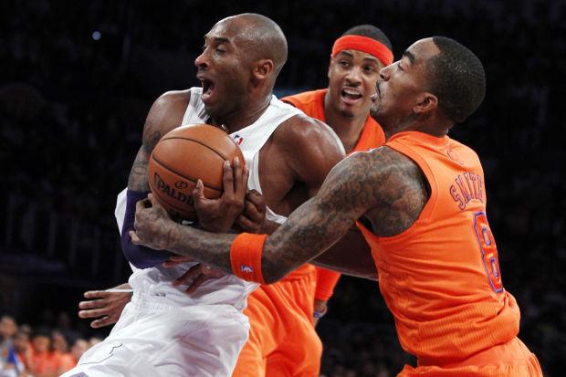 Kobe Bryant, J.R. Smith, Carmelo Anthony