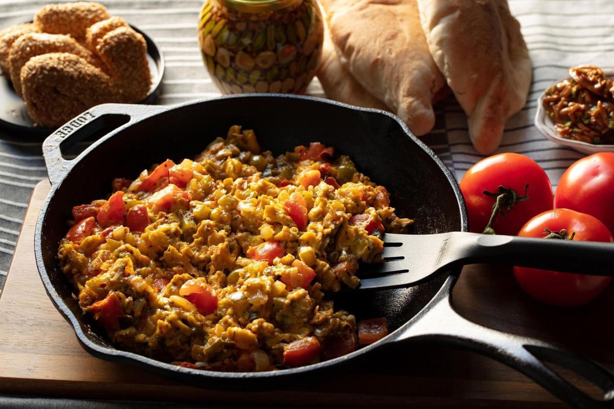 Menemen is a classic Turkish breakfast dish similar to Indian shakshuka.