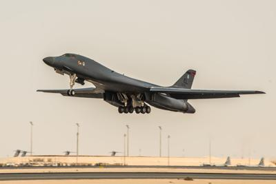 B-1 bomber in Qatar