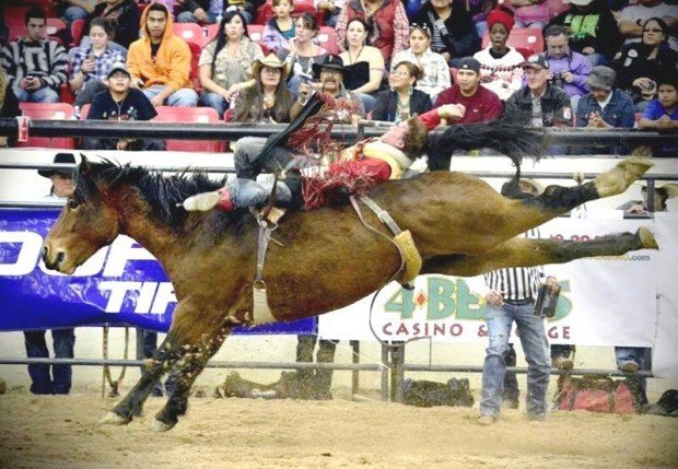 High School Rodeo O Connell Wins Third Bareback Title