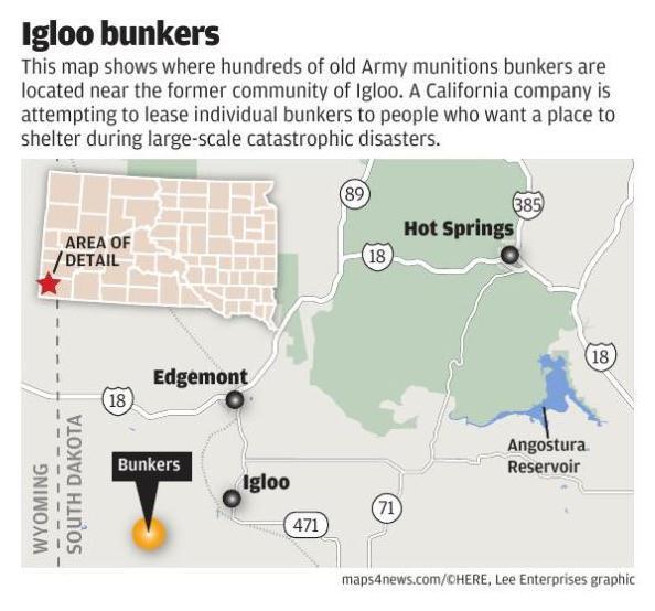 Igloo Bunkers Map Rapidcityjournal