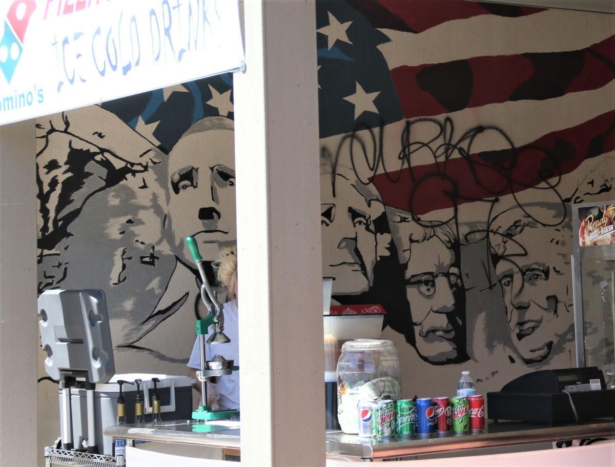 Graffiti at Domino's