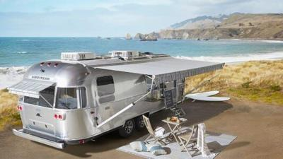 Airstream x Pottery Barn special edition travel trailer