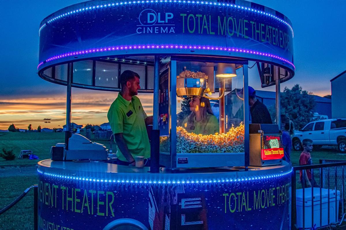 Outdoor event theater concession stand