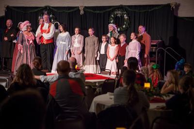 a feast of fun fezziwig s feast dinner theater fundraiser