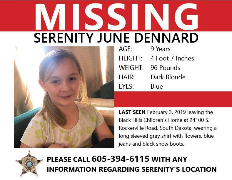 New Serenity Dennard missing poster, Feb. 22, 2019