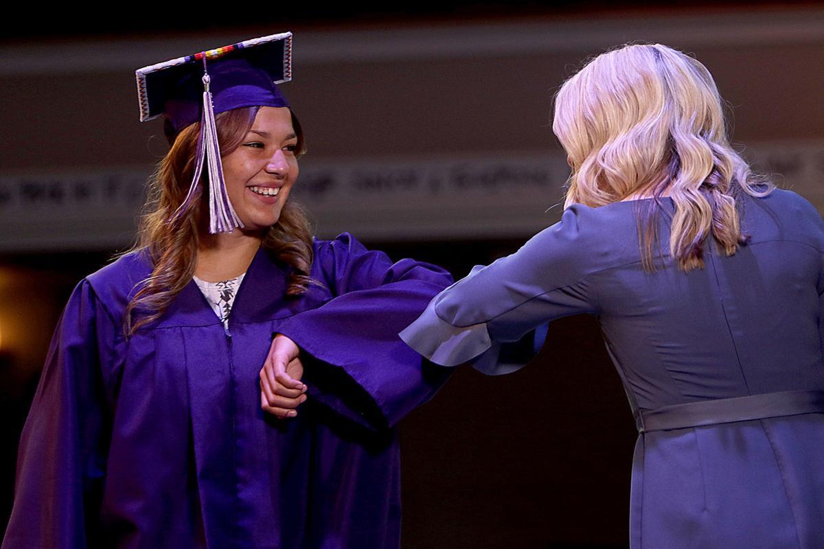 Rapid City High School students film virtual graduation