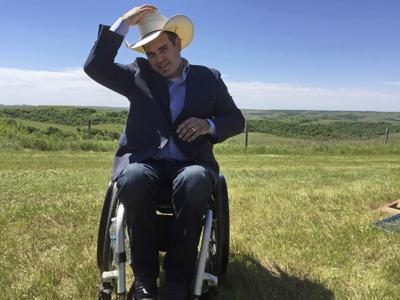 a57d75ec63e1f7 In this May 31, 2017, photo, South Dakota state Senate Democratic leader  Billie Sutton talks about his bid for governor at his family's ranch near  Burke.