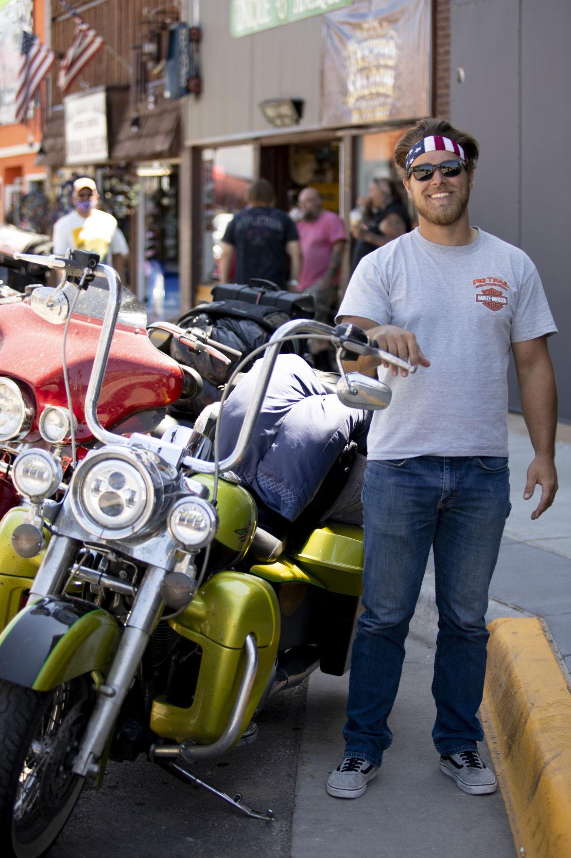mädchen an der sturgis biker rally