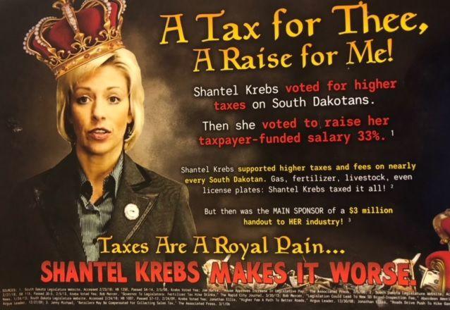 'Royal Pain' anti-Krebs postcard