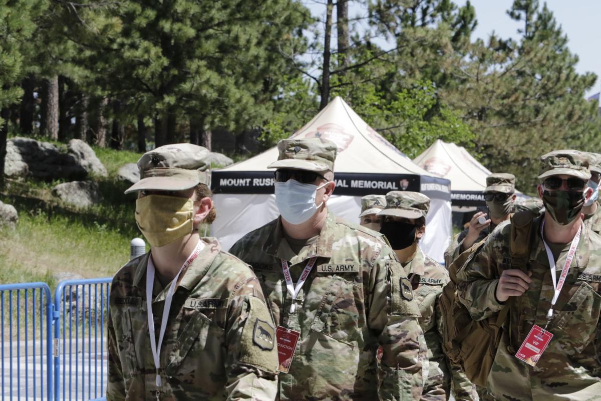 U.S. Army wears masks