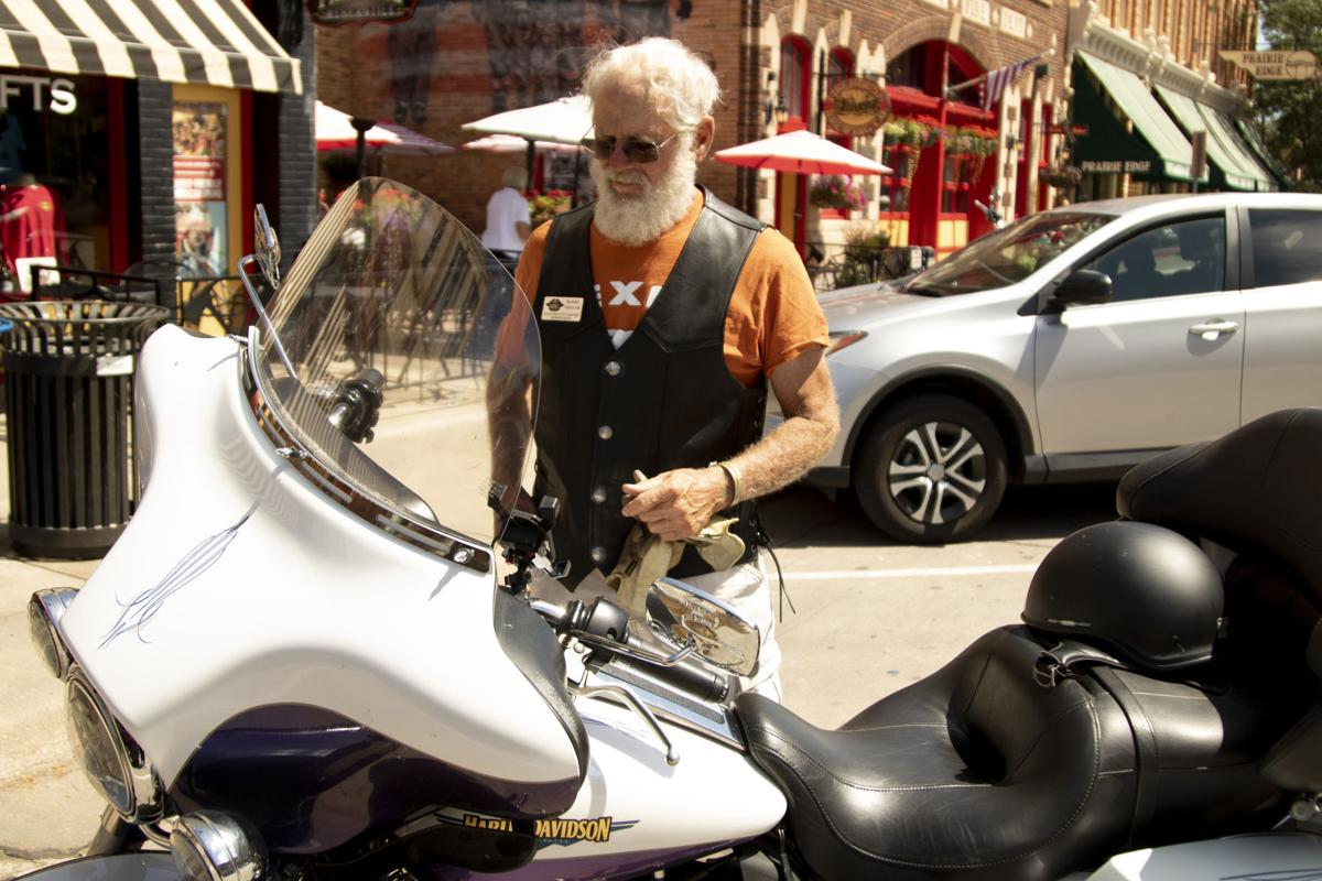 Sturgis Motorcycle Rally attendees in Downtown Rapid City