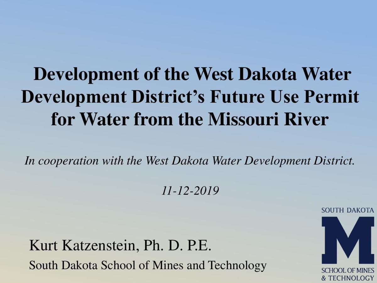 Presentation: Missouri River use study