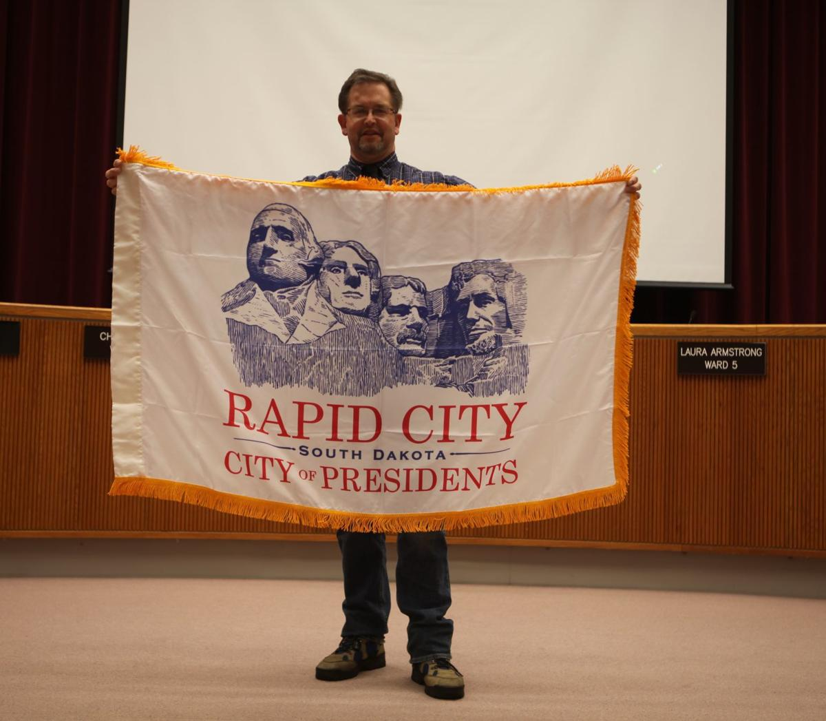 Unofficial Rapid City redesigned flag