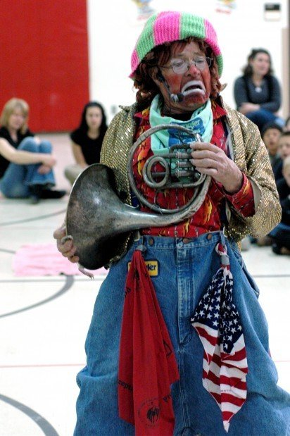 Rodeo Clown Wows Elementary School Sturgis