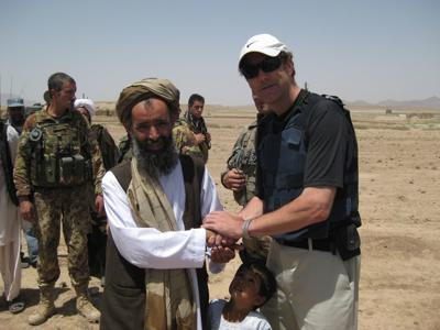 Erickson in Afghanistan, 2013