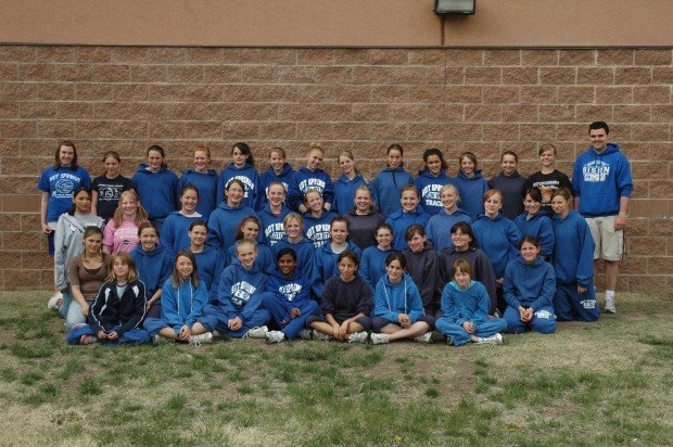 Members Of The 2008 Hot Springs Middle School Girls Track