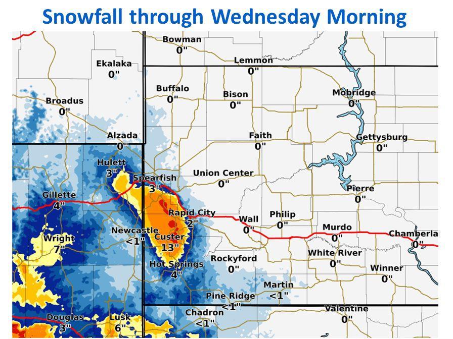 Snowfall predictions