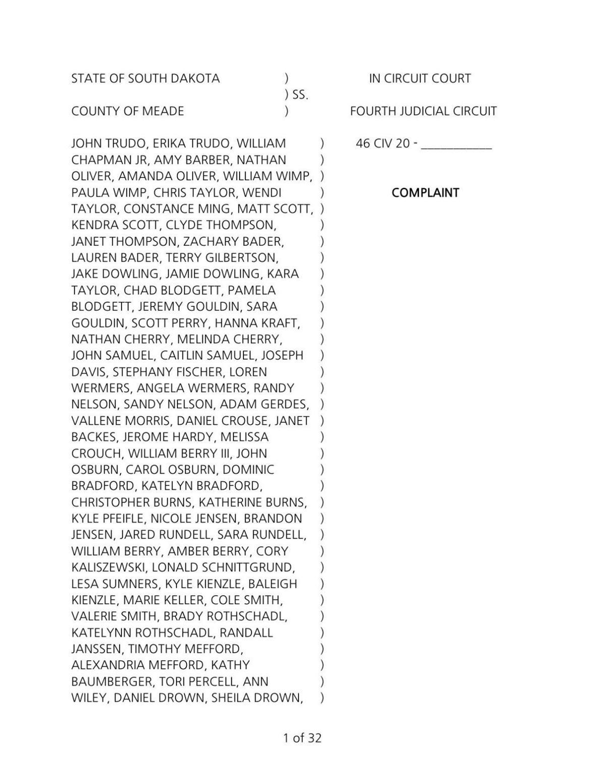 Hideaway Hills lawsuit