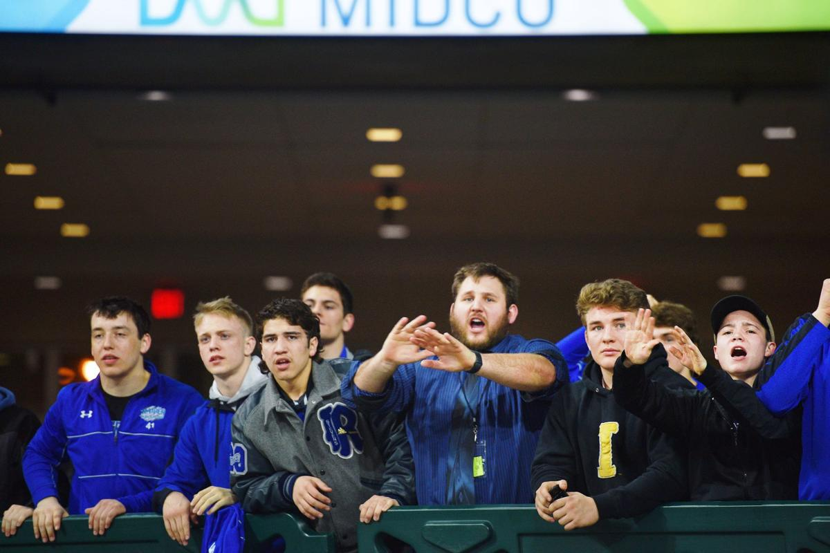 RC Stevens fans cheer during the 2018 SDHSAA State Wrestling Championships Saturday, Feb. 24, at the Denny Sanford Premier Center in Sioux Falls.