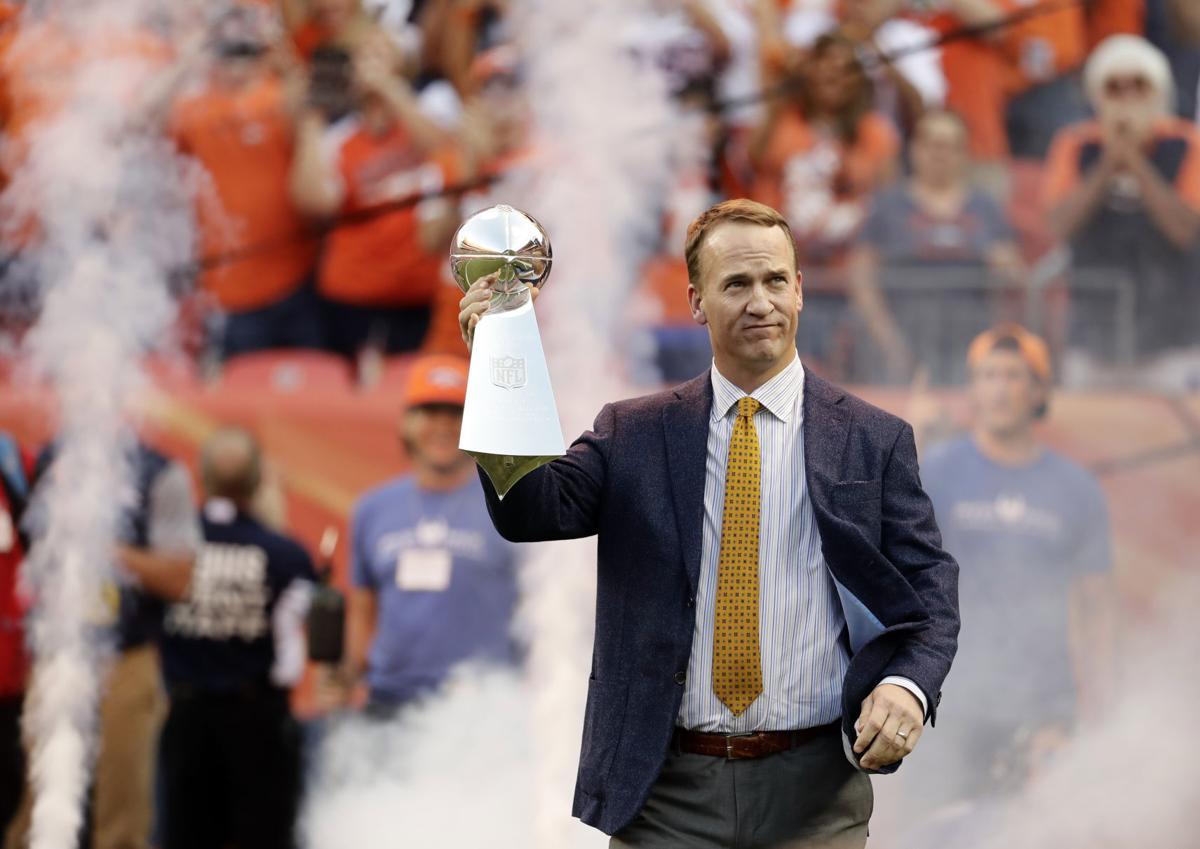Broncos Manning Honor Football