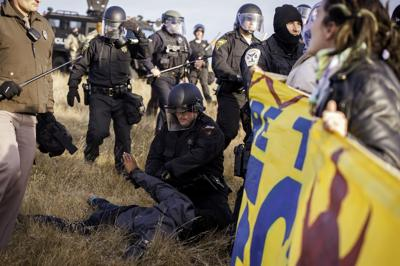 Arrest at pipeline site in North Dakota on Saturday (copy)