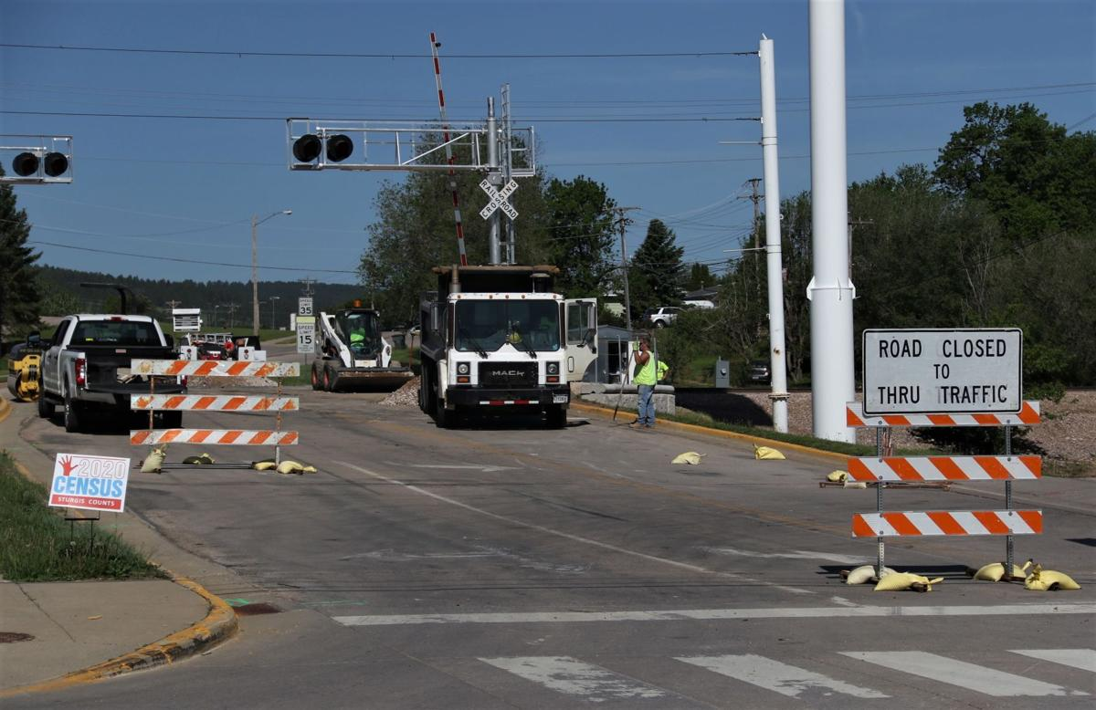 Ballpark Road rail crossing