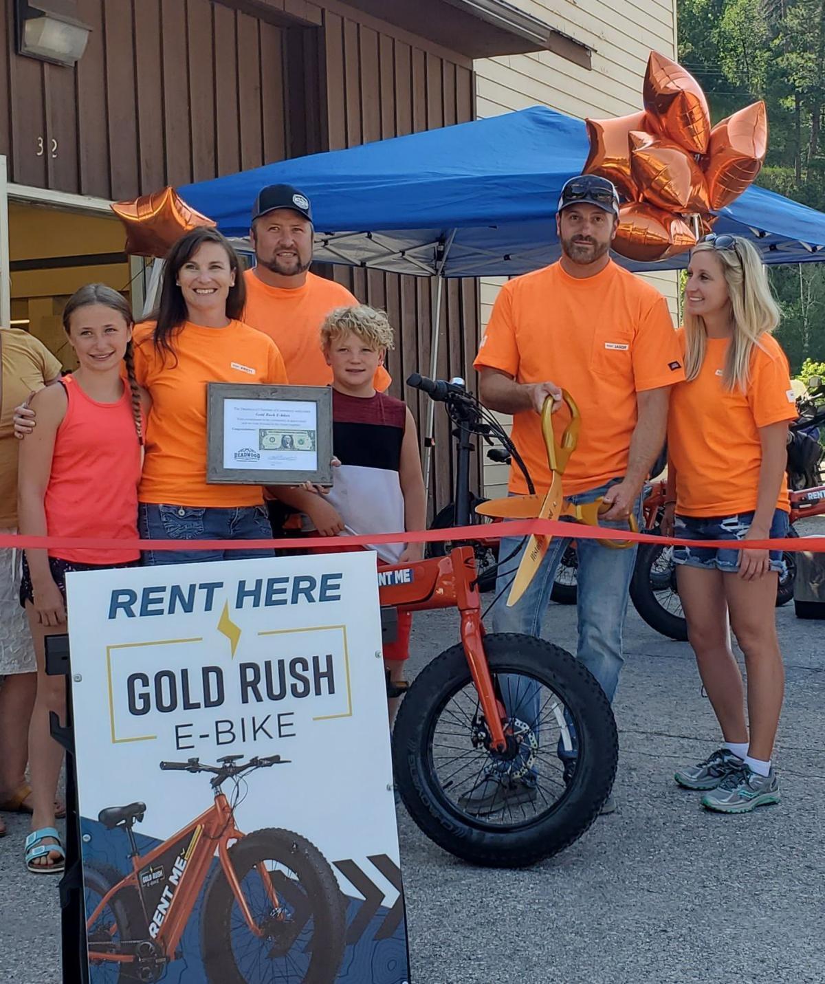 Gold Rush E-Bikes ribbon cutting