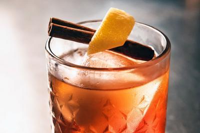 Cinnamon-honey old fashioned