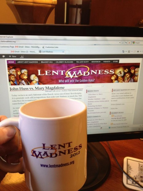 Lent madness mug and website