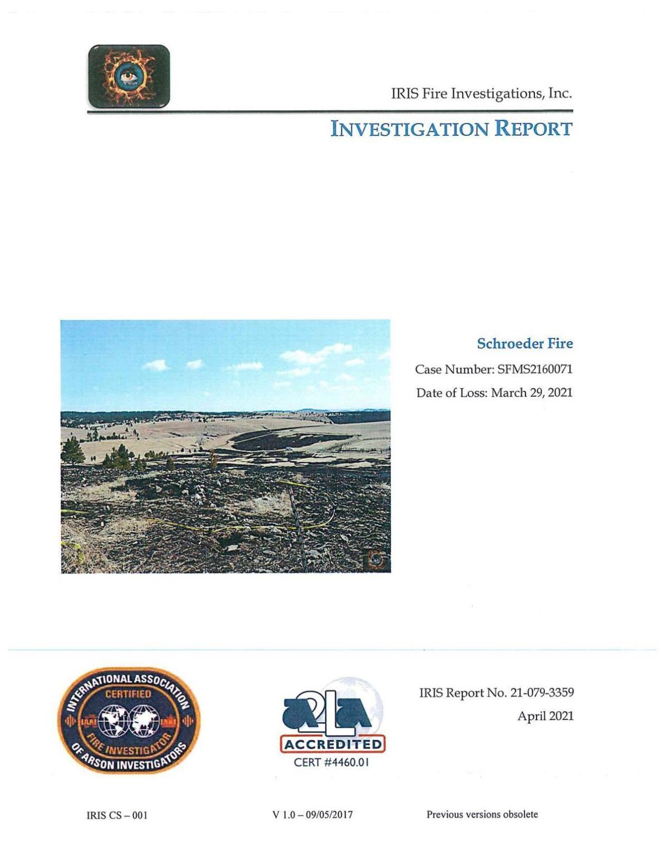 Schroeder Fire report