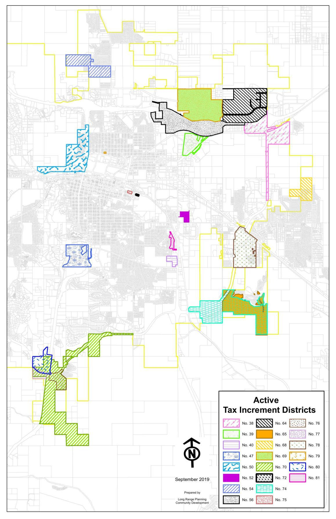 Active Tax Increment Districts in Rapid City as of September 2019