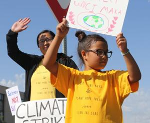 Group demonstrates for action on climate change