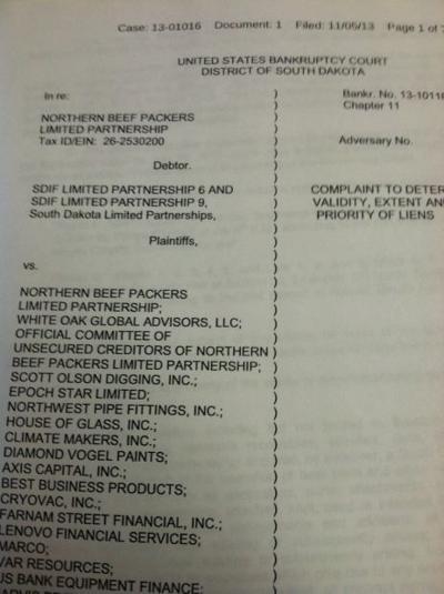 Investor complaint photo